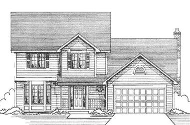 4-Bedroom, 2017 Sq Ft Colonial House Plan - 146-2393 - Front Exterior