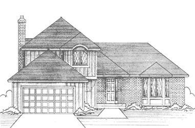 3-Bedroom, 2086 Sq Ft European House Plan - 146-2394 - Front Exterior