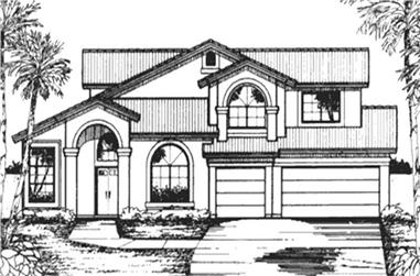 3-Bedroom, 2531 Sq Ft Florida Style Home Plan - 146-2395 - Main Exterior