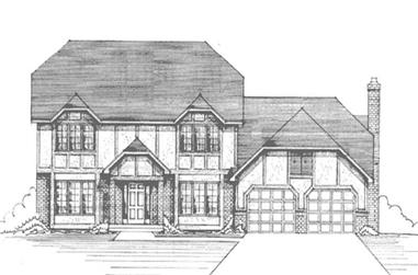 4-Bedroom, 3940 Sq Ft Colonial House Plan - 146-2396 - Front Exterior