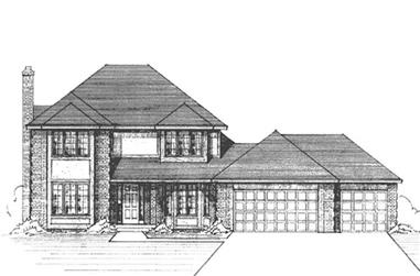 3-Bedroom, 2313 Sq Ft Country House Plan - 146-2398 - Front Exterior