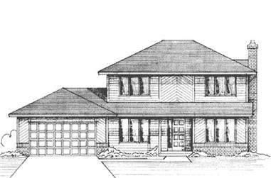 3-Bedroom, 1924 Sq Ft House Plan - 146-2399 - Front Exterior