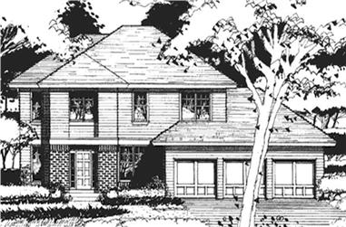 4-Bedroom, 2456 Sq Ft Country Home Plan - 146-2403 - Main Exterior