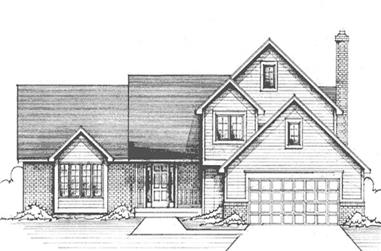 3-Bedroom, 2580 Sq Ft Country House Plan - 146-2404 - Front Exterior