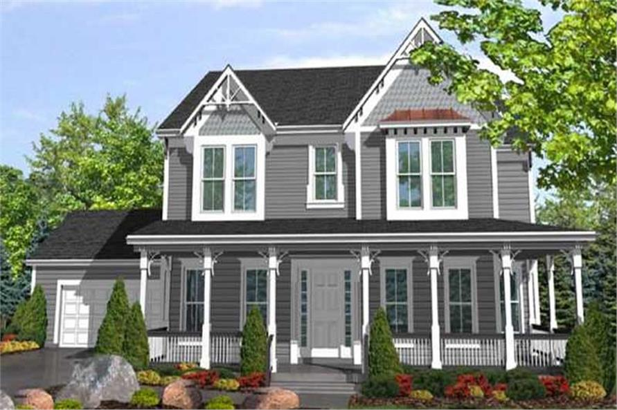 3-Bedroom, 2701 Sq Ft Country House Plan - 146-2405 - Front Exterior