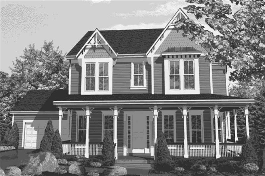 Home Plan Front Elevation of this 3-Bedroom,2701 Sq Ft Plan -146-2405