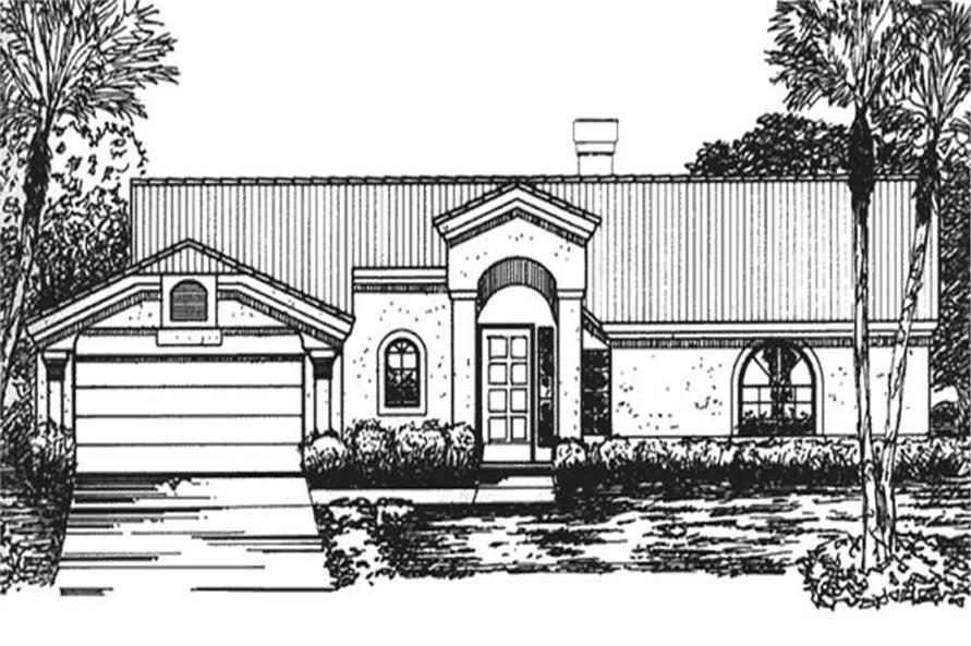 Main image for house plan # 20733