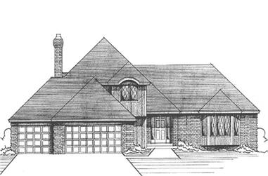 3-Bedroom, 2319 Sq Ft European House Plan - 146-2408 - Front Exterior