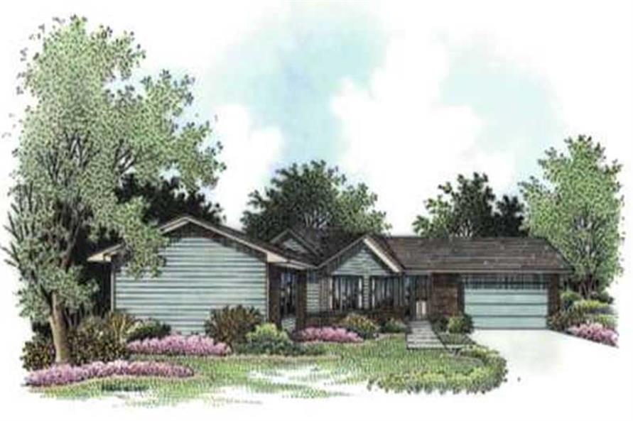 2-Bedroom, 1701 Sq Ft Ranch House Plan - 146-2409 - Front Exterior