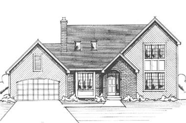 3-Bedroom, 2006 Sq Ft Country House Plan - 146-2413 - Front Exterior