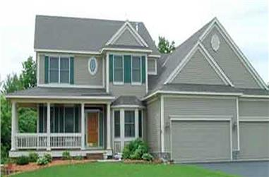 4-Bedroom, 2654 Sq Ft Country House Plan - 146-2414 - Front Exterior
