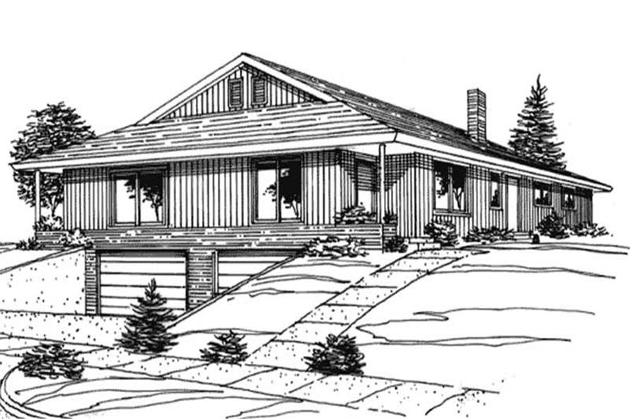 2-Bedroom, 684 Sq Ft Multi-Unit House Plan - 146-2416 - Front Exterior