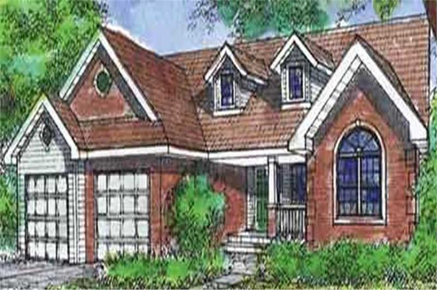 2-Bedroom, 1806 Sq Ft Country House Plan - 146-2417 - Front Exterior