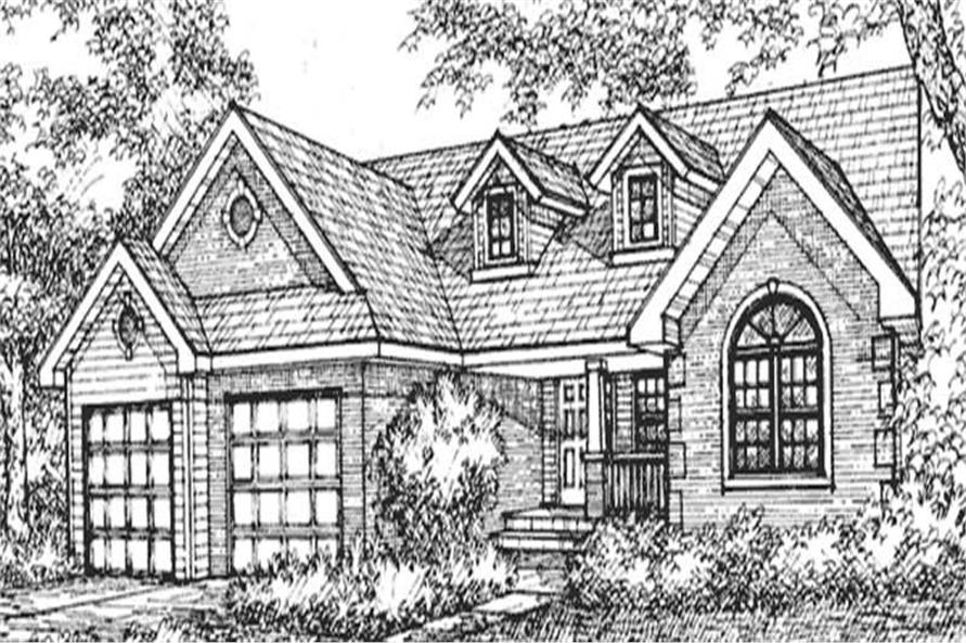 Home Plan Front Elevation of this 2-Bedroom,1806 Sq Ft Plan -146-2417