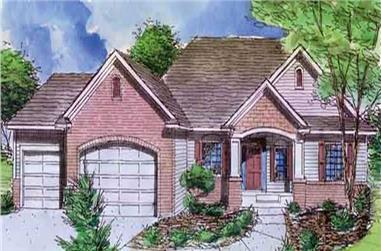 1-Bedroom, 1670 Sq Ft Ranch Home Plan - 146-2418 - Main Exterior