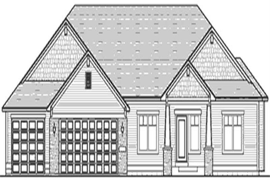 Home Plan Front Elevation of this 1-Bedroom,1786 Sq Ft Plan -146-2419