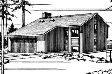3-Bedroom, 2067 Sq Ft Vacation Homes House Plan - 146-2430 - Front Exterior