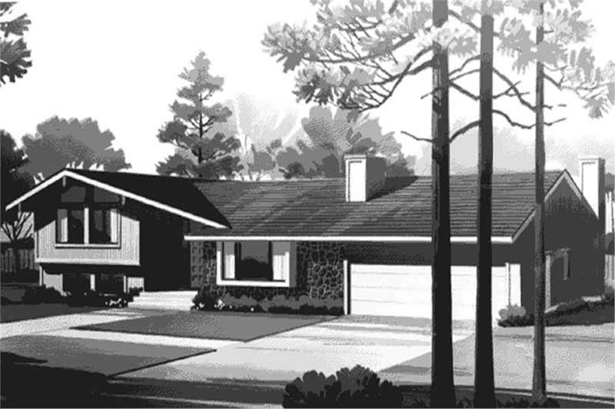 4-Bedroom, 1767 Sq Ft Contemporary Home Plan - 146-2431 - Main Exterior