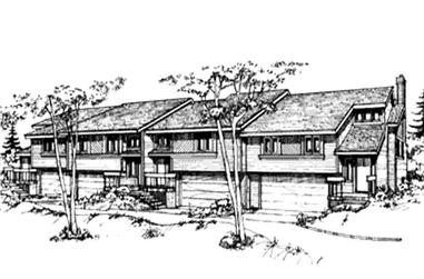 2-Bedroom, 1181 Sq Ft Multi-Unit House Plan - 146-2437 - Front Exterior