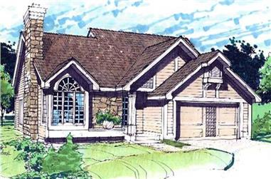 3-Bedroom, 1735 Sq Ft Ranch House Plan - 146-2439 - Front Exterior