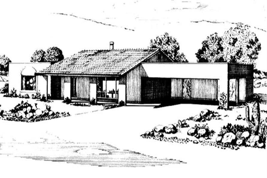 2-Bedroom, 1698 Sq Ft Southwest House Plan - 146-2442 - Front Exterior