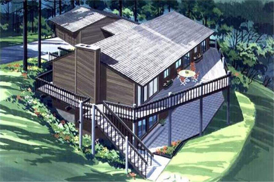 3-Bedroom, 3320 Sq Ft Vacation Homes House Plan - 146-2444 - Front Exterior