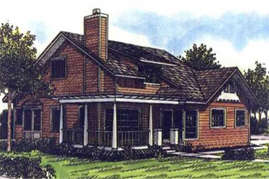 2-Bedroom, 1859 Sq Ft Ranch Home Plan - 146-2446 - Main Exterior