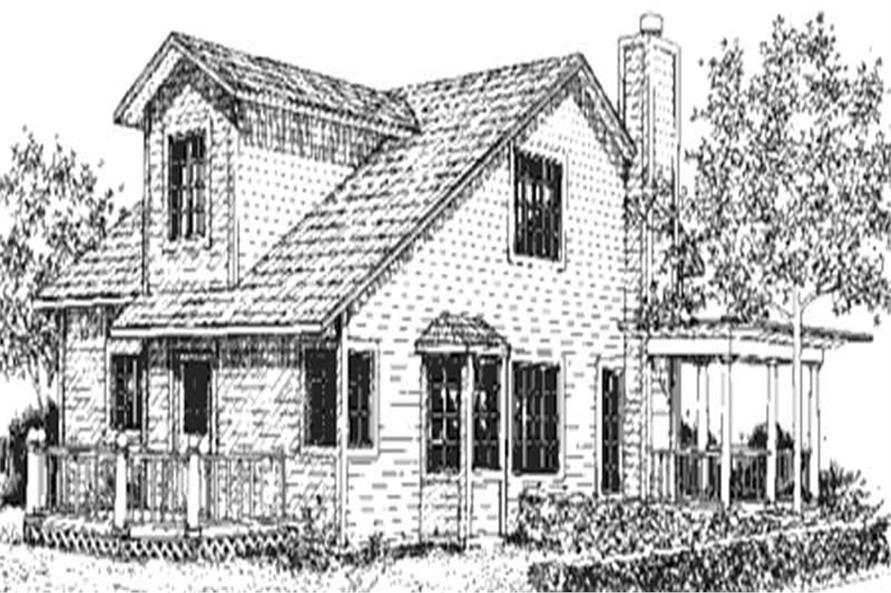 Home Plan Rear Elevation of this 2-Bedroom,1859 Sq Ft Plan -146-2446