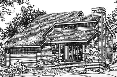 2-Bedroom, 1296 Sq Ft Modern House Plan - 146-2450 - Front Exterior