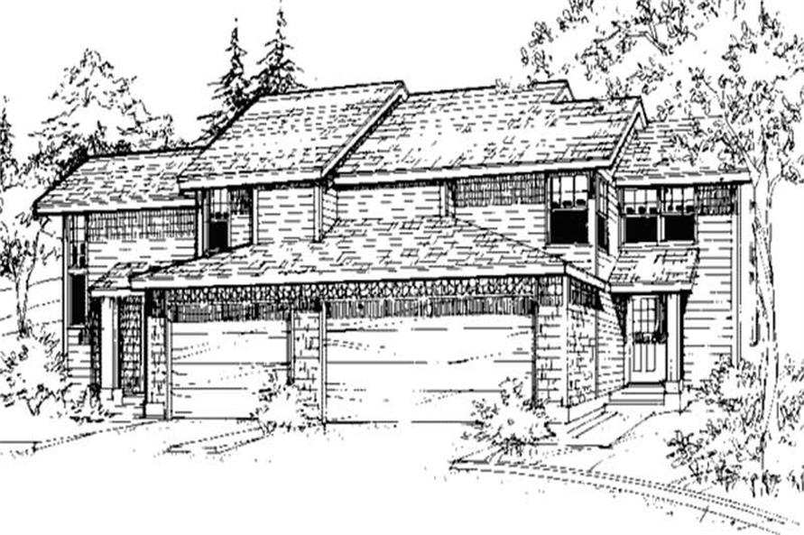 2-Bedroom, 1938 Sq Ft Modern House Plan - 146-2451 - Front Exterior