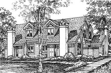 1-Bedroom, 1138 Sq Ft Multi-Unit House Plan - 146-2464 - Front Exterior