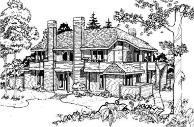 1-Bedroom, 1142 Sq Ft Multi-Unit House Plan - 146-2469 - Front Exterior