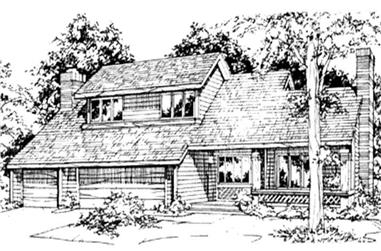 3-Bedroom, 3106 Sq Ft Country Home Plan - 146-2475 - Main Exterior