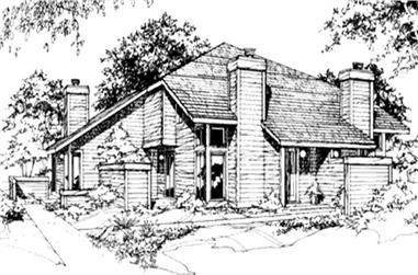 2-Bedroom, 648 Sq Ft Multi-Unit House Plan - 146-2479 - Front Exterior