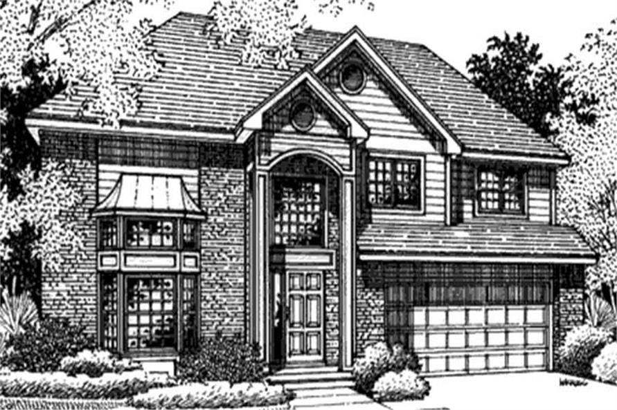 This is the front elevation of European Home Plans LS-B-95017.