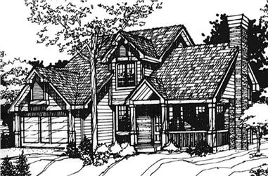 3-Bedroom, 1957 Sq Ft Country House Plan - 146-2489 - Front Exterior