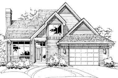 2-Bedroom, 1881 Sq Ft Cape Cod House Plan - 146-2490 - Front Exterior