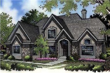 3-Bedroom, 2650 Sq Ft Cape Cod Home Plan - 146-2495 - Main Exterior
