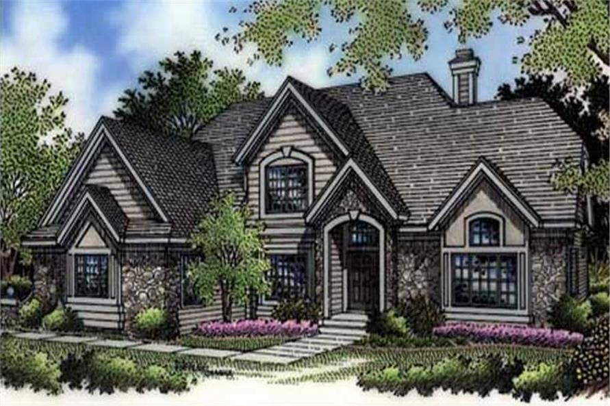 This is the colored rendering of European House Plans LS-B-94004.