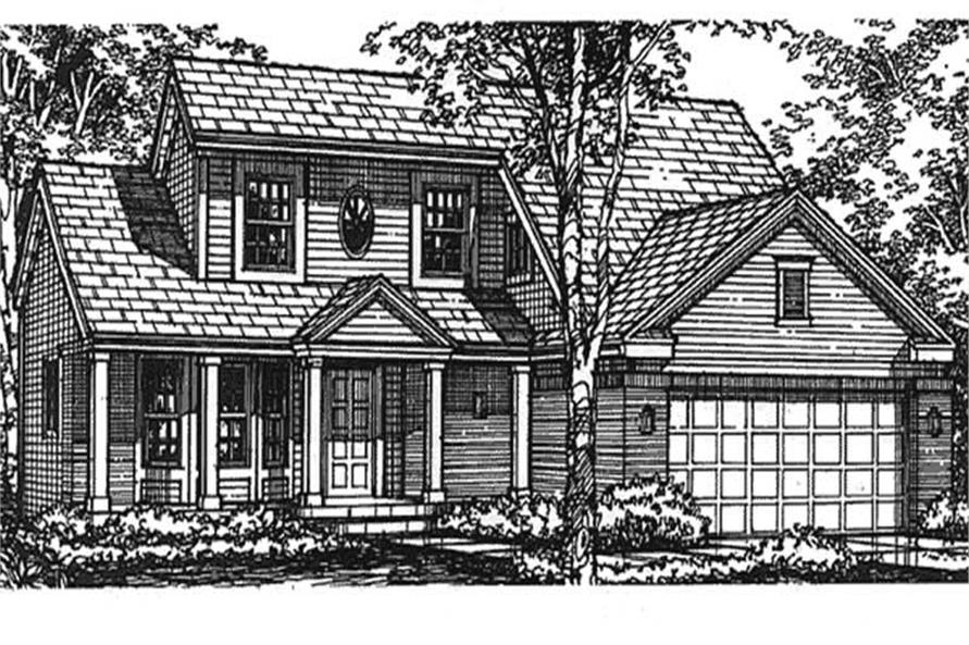 3-Bedroom, 1698 Sq Ft Cape Cod House Plan - 146-2499 - Front Exterior