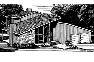 1-Bedroom, 3741 Sq Ft Vacation Homes Home Plan - 146-2503 - Main Exterior