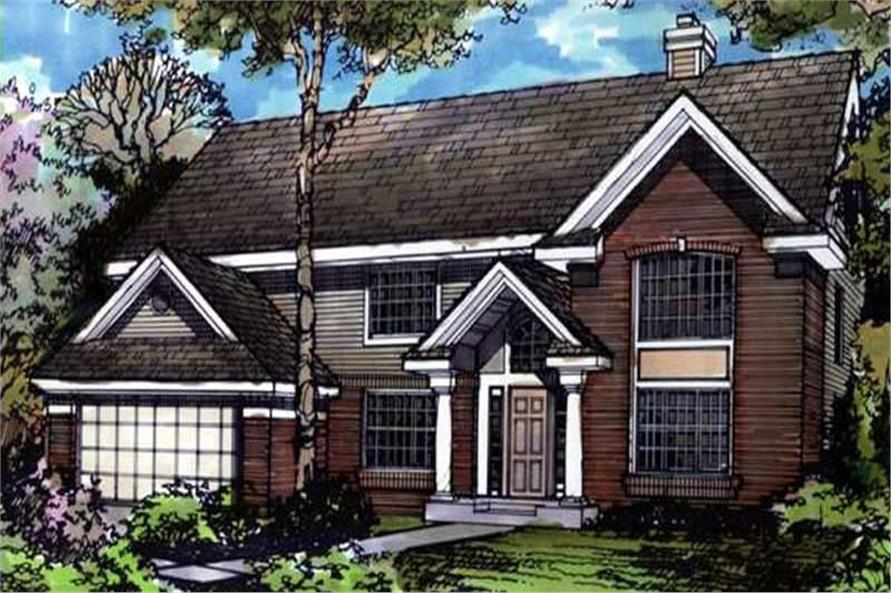 Country Home Plans LS-B-90034 colored rendering.