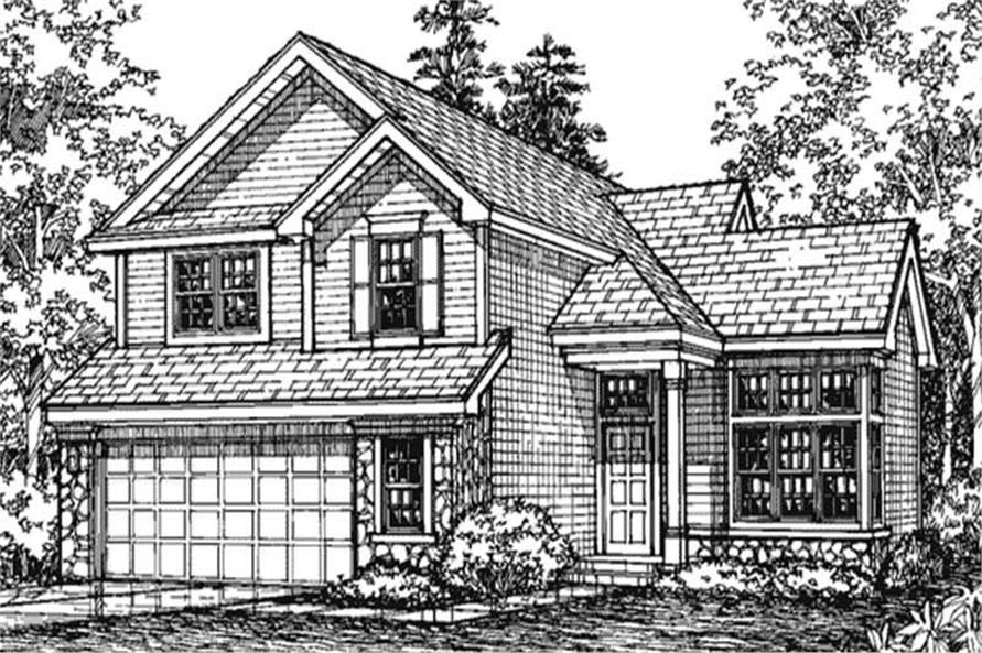 This is the Front Elevation for Country House Plans LS-B-93008