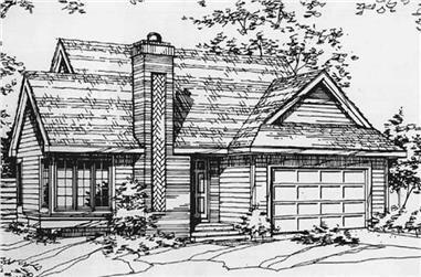 2-Bedroom, 1231 Sq Ft Ranch Home Plan - 146-2518 - Main Exterior