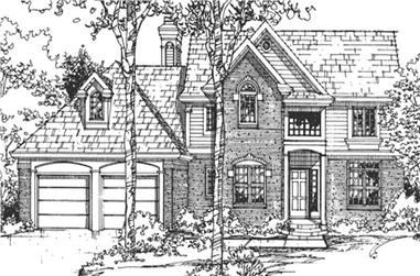 4-Bedroom, 2448 Sq Ft European Home Plan - 146-2520 - Main Exterior