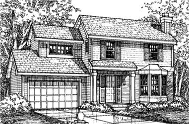 3-Bedroom, 1467 Sq Ft Country Home Plan - 146-2524 - Main Exterior
