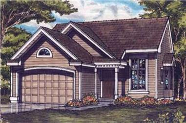 3-Bedroom, 1227 Sq Ft Country House Plan - 146-2530 - Front Exterior