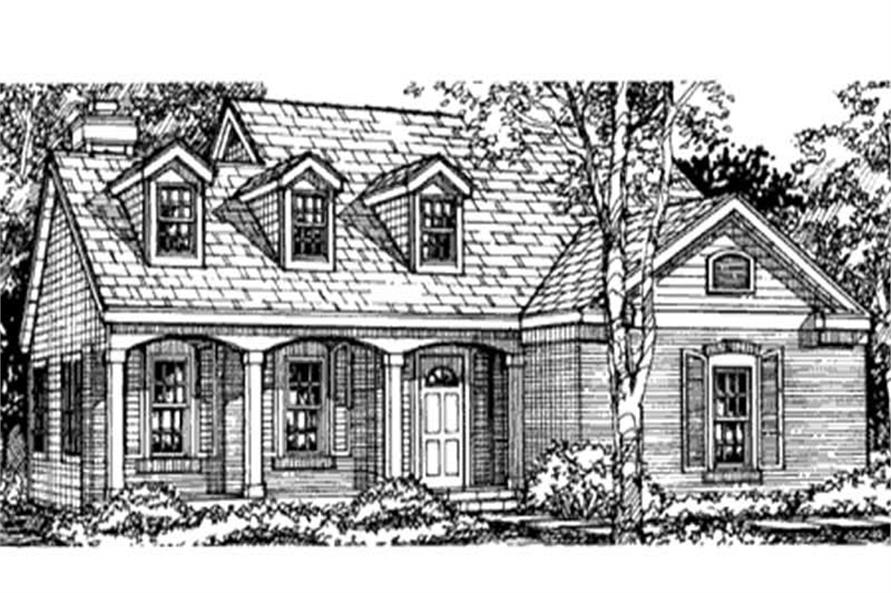 This is the front elevation of southern houseplans LS-B-93017.