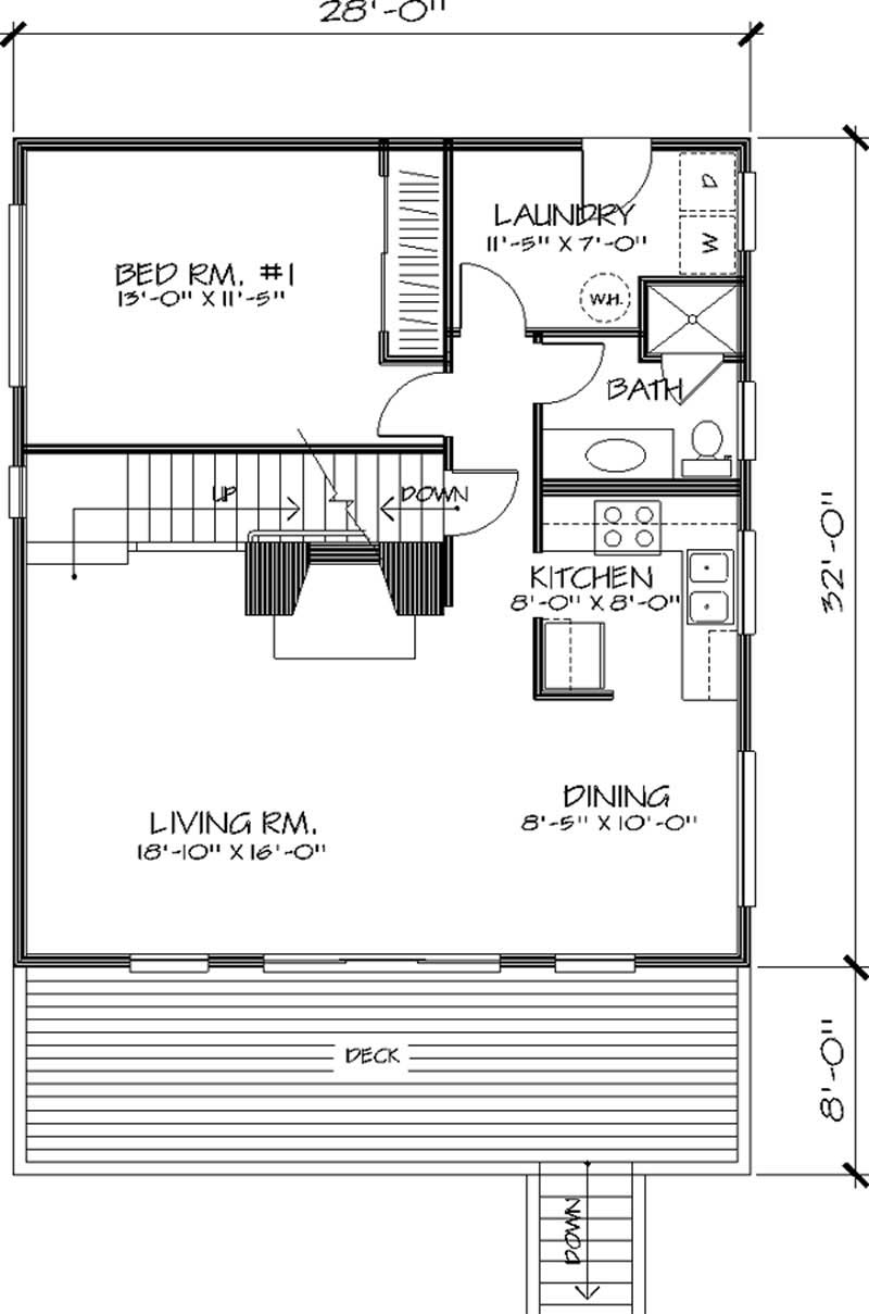Cape cod house plan 3 bedrms 2 baths 1350 sq ft for 1350 sq ft house plan