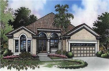 3-Bedroom, 1679 Sq Ft Florida Style House Plan - 146-2543 - Front Exterior
